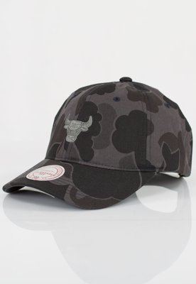 Czapka Flexfit Mitchell & Ness NBA Camo Slouch Chicago Bulls Grey
