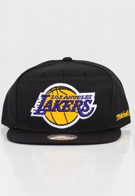 Czapka Snapback Mitchell & Ness NBA Black Riptop Honeycomb LA Lakers