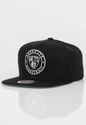 Snap Mitchell & Ness NBA Twill Circle Brooklyn Nets