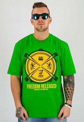 T-shirt Grube Lolo Freedom zielony