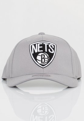 Czapka Flexfit Mitchell & Ness NBA Gull Grey Brooklyn Nets