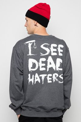 Bluza Diamante Wear I See Dead Haters grafitowa