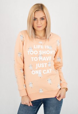 Bluza Diamante Wear Life Is Too Short, Cat różowa