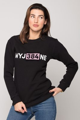 Bluza Diamante Wear WYJ384NE czarna