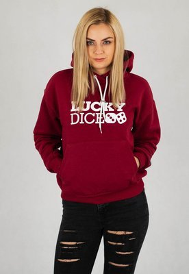 Bluza Lucky Dice Logo One bordowa