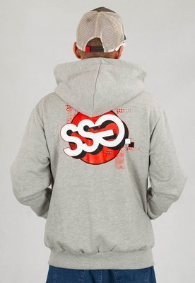 Bluza SSG Zip Graffiti Circle szare
