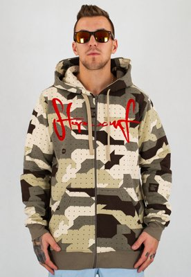 Bluza Stoprocent Slim Tag Zip camo