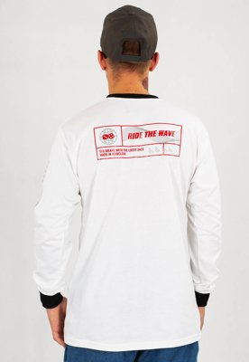 Longsleeve Lucky Dice Ride The Wave One biały