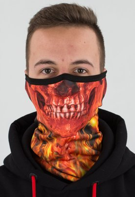 Pół Kominiarka Sublimowana Skull Red