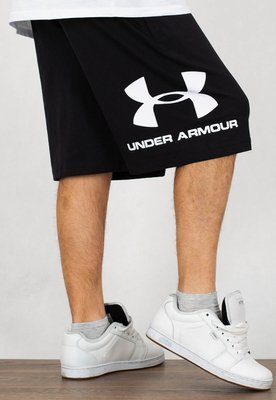 Spodenki Under Armour UAR1329300001 Sportstyle Cotton Logo czarne