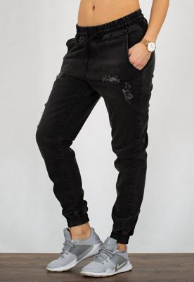 Spodnie Diamante Wear Jogger Unisex RM Ripped black jeans