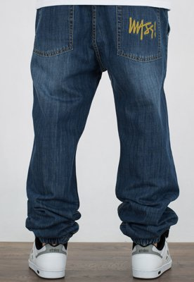 Spodnie Mass Jogger Signature Tapered Fit dark blue