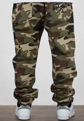 Spodnie Mass Jogger Signature Tapered Fit woodland camo