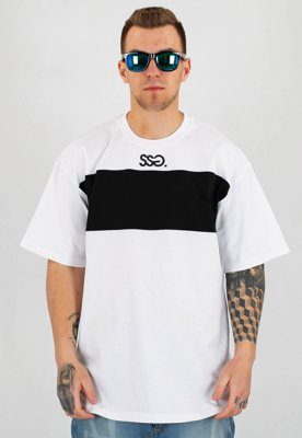 T-Shirt SSG Belt Sleeves biały
