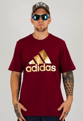 T-shirt Adidas Athletics Mens Graphic GE4699 bordowy