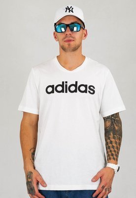 T-shirt Adidas Essentials Linear DQ3056 biały