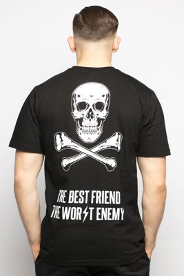 T-shirt Diamante Wear Best Friend, Worst Enemy czarny
