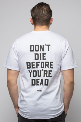 T-shirt Diamante Wear Don't Die biały