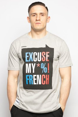 T-shirt Diamante Wear Excuse My French szary