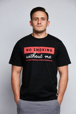 T-shirt Diamante Wear No Smoking czarny