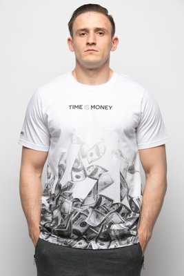 T-shirt Diamante Wear Time Is Money biały