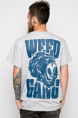 T-shirt Diamante Wear Weed Gang Unisex szary
