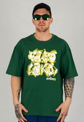 T-shirt El Polako Baggy Graffiti ciemno zielony