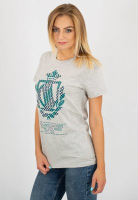 T-shirt Lady Diil Pattern szary