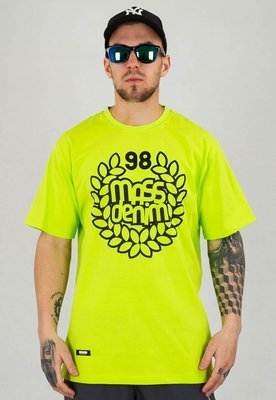 T-shirt Mass Base limonkowy