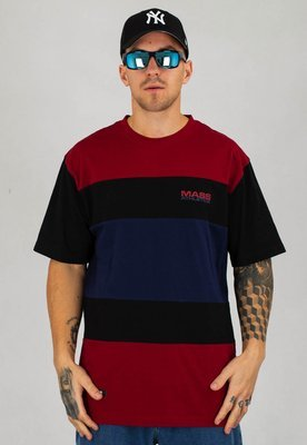 T-shirt Mass Layer czarno bordowy