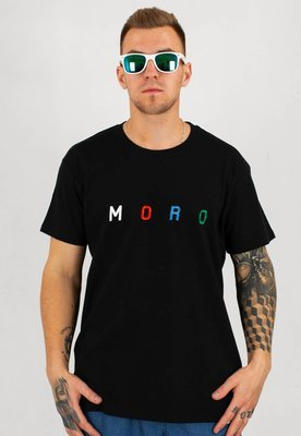 T-shirt Moro Sport Colorfull  Letters czarny