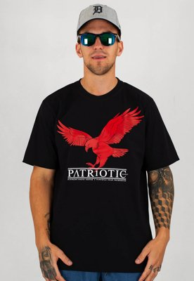 T-shirt Patriotic Red Eagle czarny