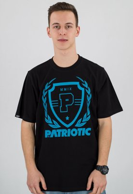 T-shirt Patriotic Shield Laur czarny