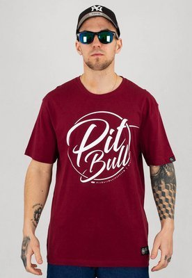 T-shirt Pit Bull Inside bordowy