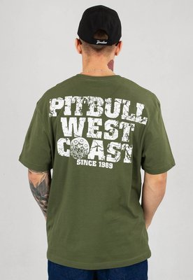 T-shirt Pit Bull Tray Eight oliwkowy