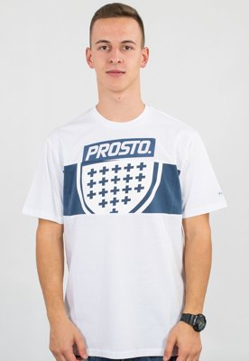 T-shirt Prosto Layer Shield biały