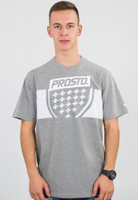 T-shirt Prosto Layer Shield szary