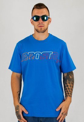 T-shirt Prosto Postcard Line Out granatowy