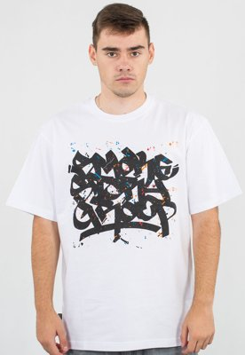 T-shirt SSG Smoke Tag Colors biały