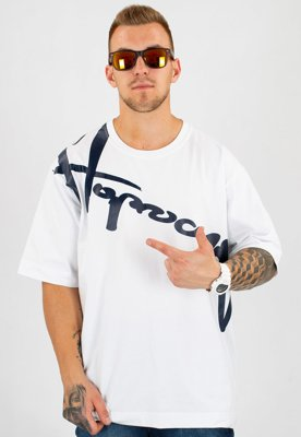 T-shirt Stoprocent Baggy Downhill 17 biały