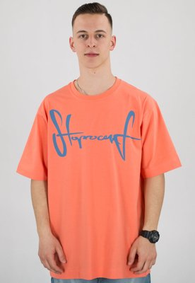 T-shirt Stoprocent Baggy Tag 18 coral