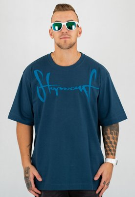 T-shirt Stoprocent Baggy Tag17 granatowy