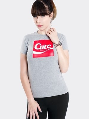T-shirt Stoprocent Cute 17 szary
