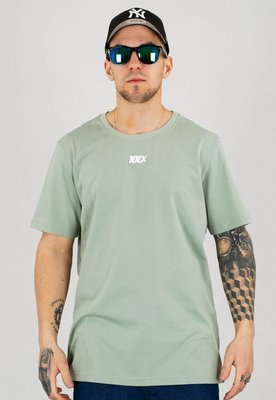 T-shirt Stoprocent Regular 100 zielony khaki