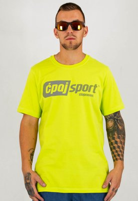 T-shirt Stoprocent Regular Ćpaj Sport zielony