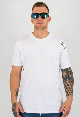 T-shirt Stoprocent Slim Base Smalltag biały