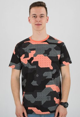 T-shirt Stoprocent Slim Camo coral