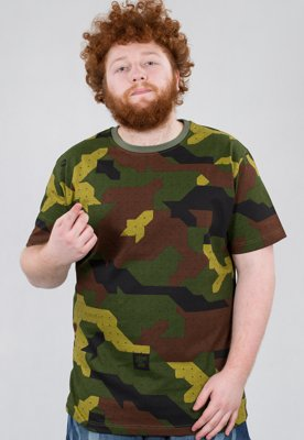 T-shirt Stoprocent Slim Camu zielony
