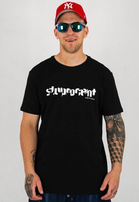 T-shirt Stoprocent Slim Chopped czarny