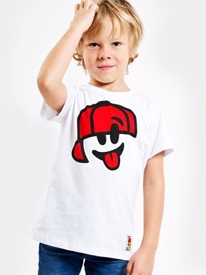 T-shirt Stoprocent Smile biały